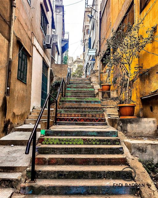 Stairs of Beirut..... lebanon  beirut   beautifuldestinations ... (Kalei Coffee Co.)