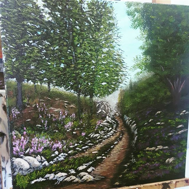 art artist  artwork  mywork  mypainting painting  nature  trees  flowers ... (Aley)