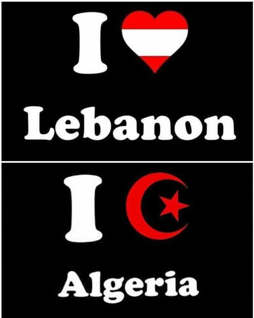 Between  lebanon and  algeria : lot of loveeeeee ❤️❤️❤️❤️...Follow us...