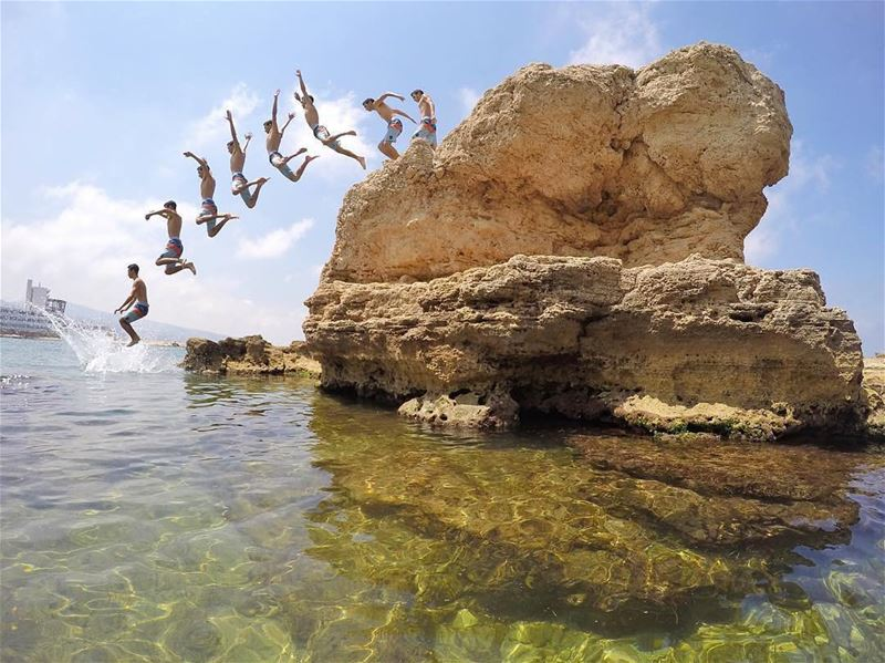 Jumping into Summer 😃صباح الخير من البترون Photo taken by @marcusarkis � (Batroûn)