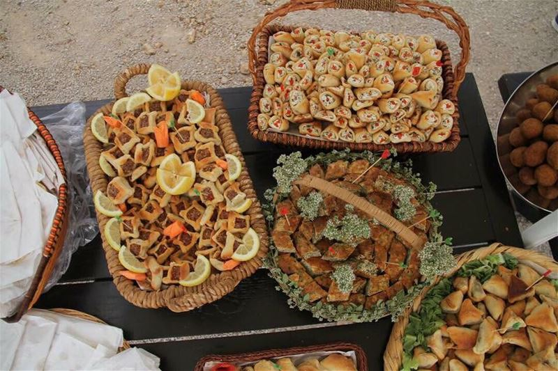 Our local guesthouses'  fresh and  natural  food! JabalMoussa...