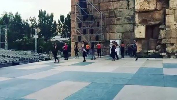 Rehearsal's happened yesterday  for the opening of Baalbeck International... (Baalbeck International Festival)