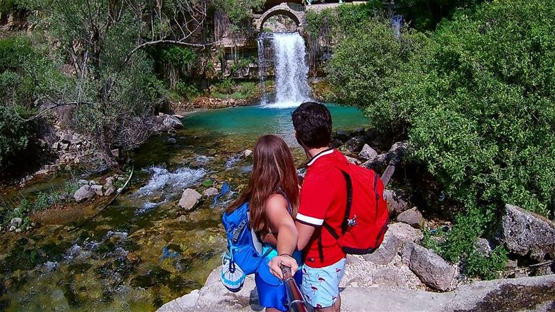 Let's backpack into the wild!  themountaineers  waterfall  lebanon ... (Afka, Mont-Liban, Lebanon)