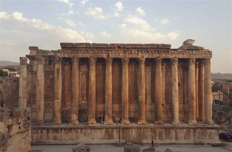 Old things always seem better...... baalbeck  livelovelebanon ... (Temple of Bacchus)