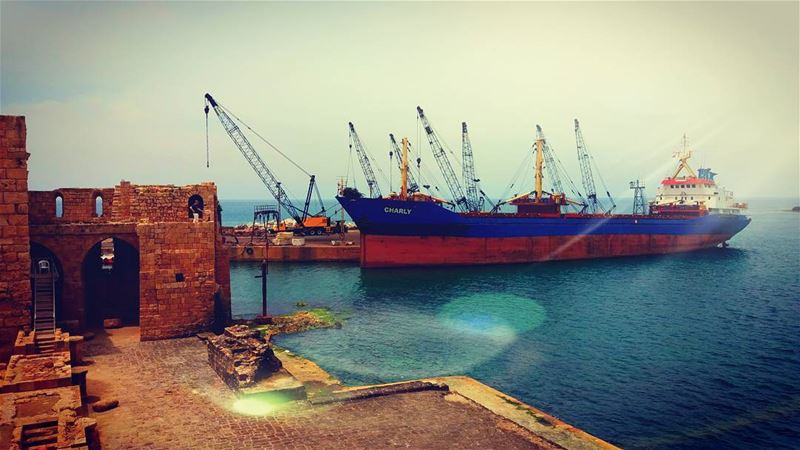 Saida CastleA ship at harbor is safe..but that's not what ships are... (Sidon Sea Castle)