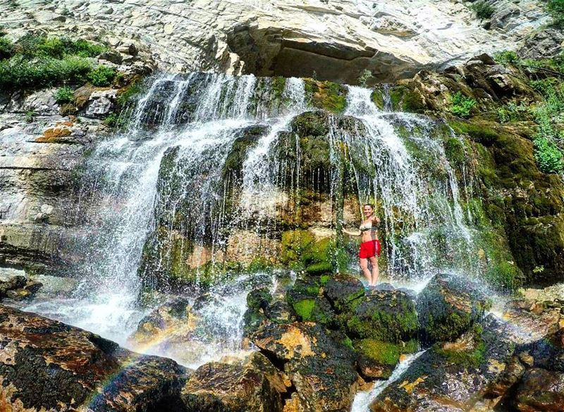 Refreshing  Waterfall 💦🌈 SurroundedByNature  NatureIsCalling ... (Afka, Mont-Liban, Lebanon)