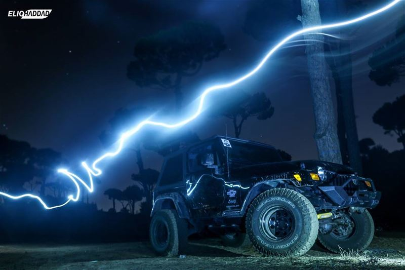 Offroad  Ride  Jeep  Wrangler  4x4  Night  Sky  Lights  Nature  Lebanon ...