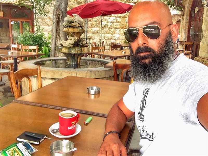 Waiting for a meeting!!☕️  me  nescafe  coffee  zouk  keserwan  lebanon ... (Layali el Mir)