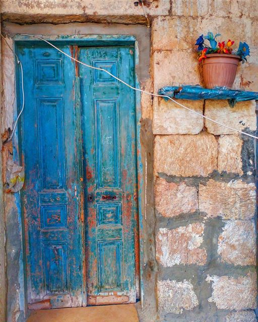 Fifty shades of BLUE 💙......... architecture  history  travel ... (Lebanon)