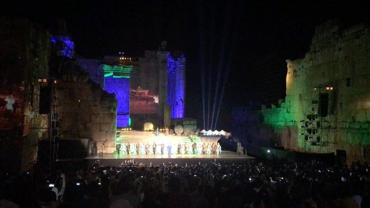 "Lebanese Night show which specialized for ""Baalbeck people"" 😍😍😍 with @ra (Baalbeck International Festival)"