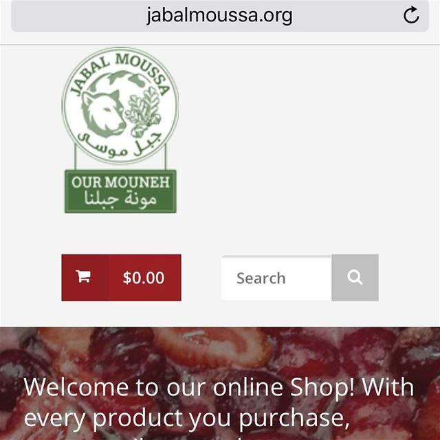 You can now purchase  JabalMoussa's  food and  handicraft  products Online!