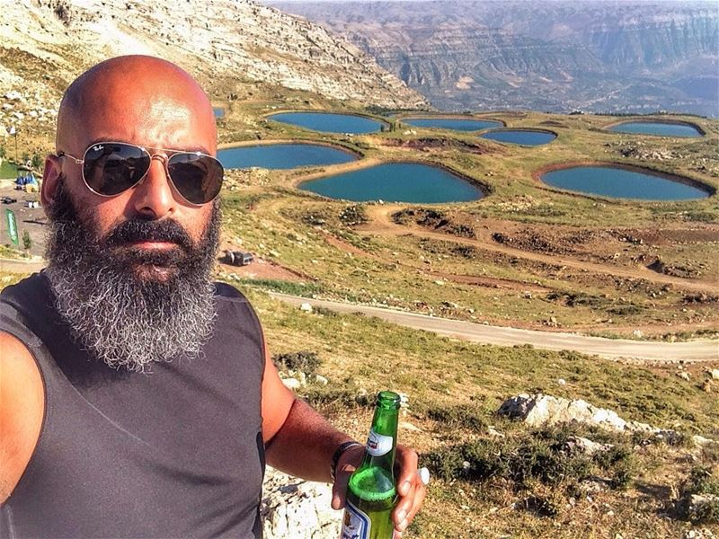 Cheers from the top🍻❤️  laklouk  lake  lakes  lebanon  jbeil ... (El Laklouk, Mont-Liban, Lebanon)