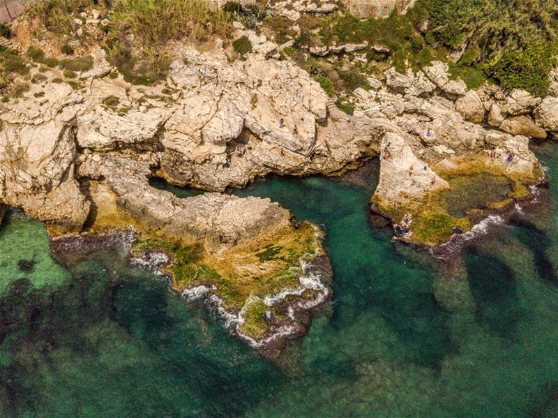 Rocky shores from above  rocks  shore   rockyshore  seashore  sea  swim ...