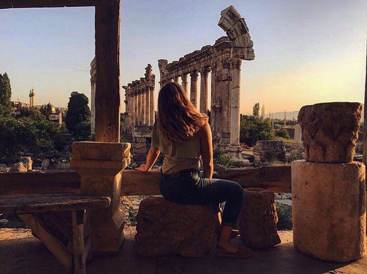 The ruins 🗿by @nouraabouzeinabProud to be Baalbaki ;) Proud to be... (Baalbek , Roman Temple , Lebanon)