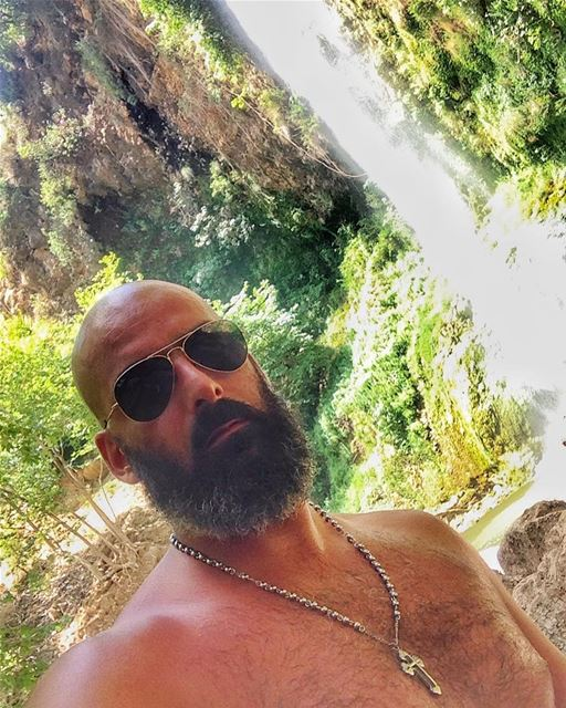 Spending my birthday with mother nature❤️  me  river  waterfall  lebanon ... (Bsetin L3essi)