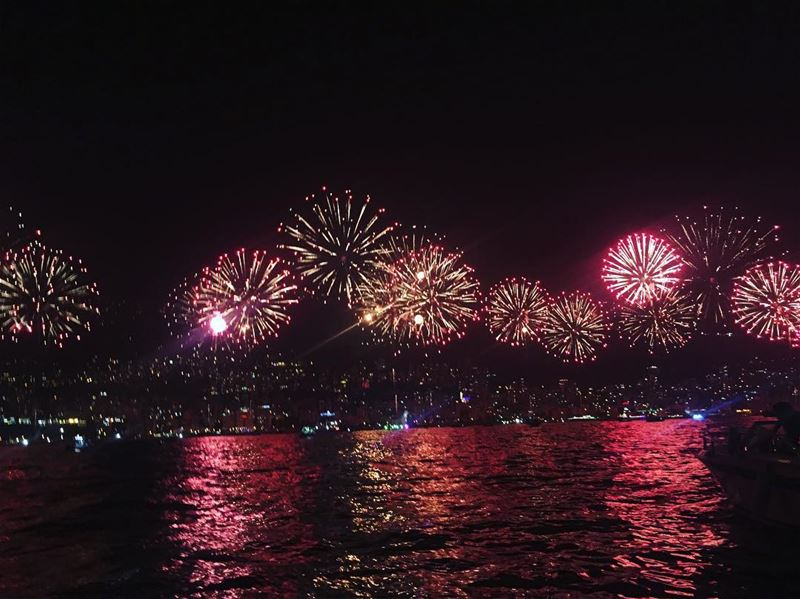 jounieh  festival  fireworks  bestview  fromthesea  colourful ...