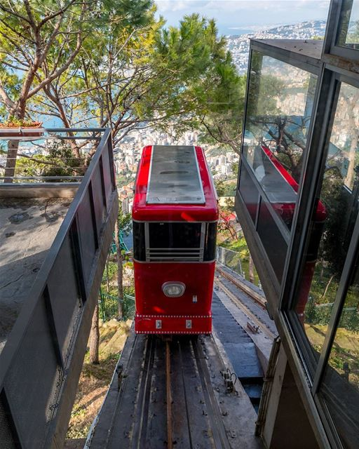 The second cable car and last step to Harrisa and seeing the Notre Dame of...