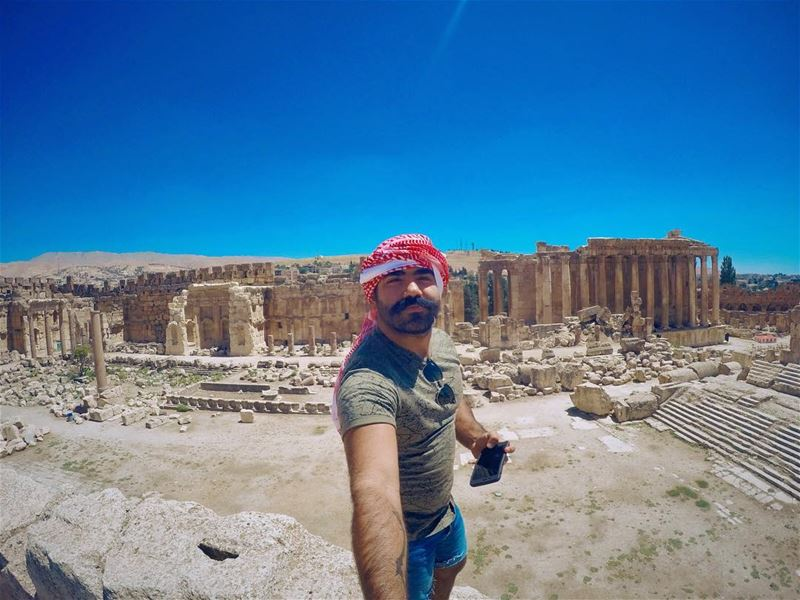 I am standing where:-  AlexandreTheGreat used to meet his boyfriend... (Baalbek, Lebanon)