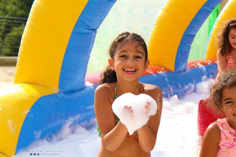 I ❤️ Summer!☀️💦 @skykidsjcc  birthdayparty  splash  splashit  summer ... (Jeita Country Club)