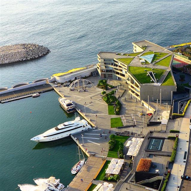 It looks different from above....  beirut  lebanon  seaside  sea ... (Beirut Yacht Club)