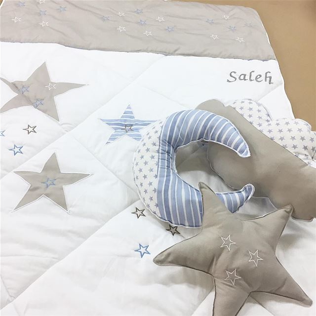 To the moon and back 💭Sweet dreams baby Saleh 😇 Write it on fabric by...