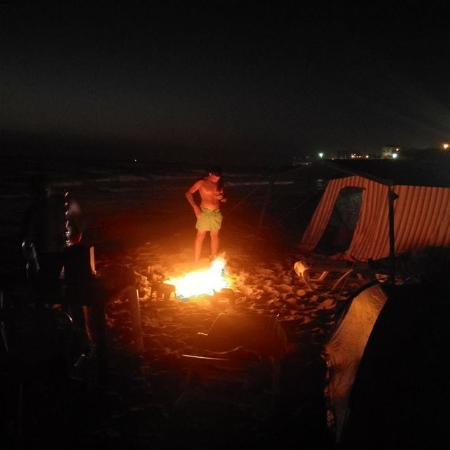 ........... sea  night  life  nightlife  lebanon  sea  fire ...