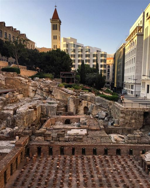 romanbaths  ruins of  downtown  ancient  history  architecture  roman ... (Roman Bath Ruins - Beirut)