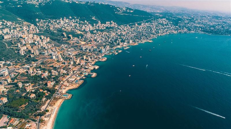 The beautiful bay of Jounieh  lebanon  livelovejbeil  livelovejounieh ... (Joünié)