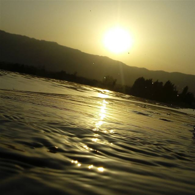 mycapture photography water sunset  sun  sky  mountains  livelovelebanon...