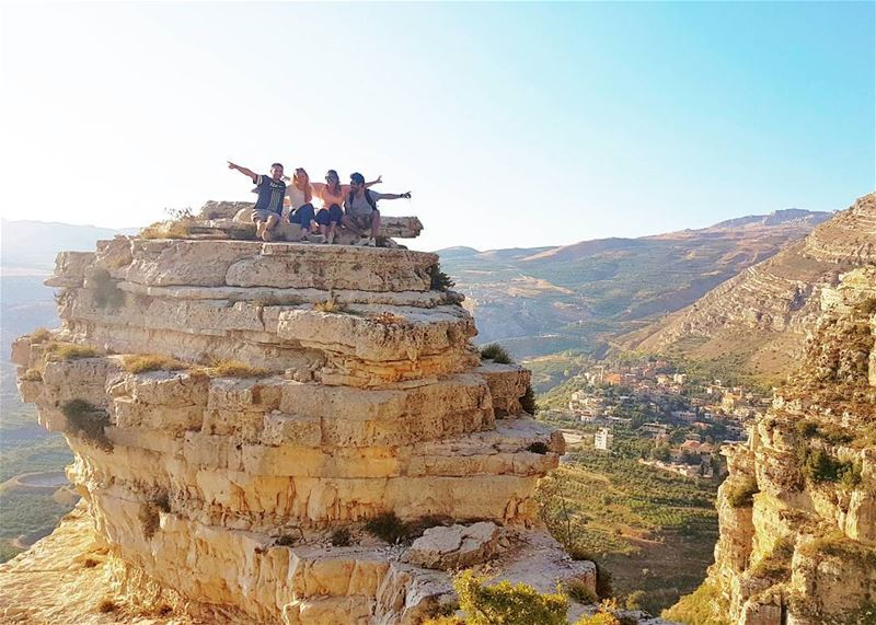 It's the weeeeekend! Wishing you all a happy one from the incredible... (Akoura, Mont-Liban, Lebanon)