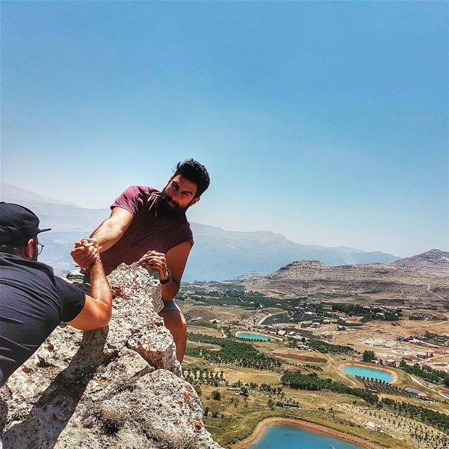 to the rescue 💪🏼! explorelebanonwithdecathlon  fransabankvplTaken by @g (Akoura, Mont-Liban, Lebanon)