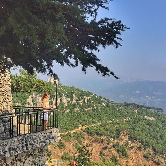 Enjoying the view @vitalina.a  LiveLoveLebanon  wearelebanon ... (Mar Musa, Mont-Liban, Lebanon)