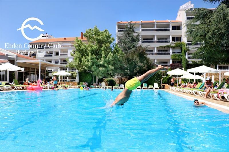 Whoever is having a blast is kindly requested to jump into the pool! 💦... (Ehden Country Club)