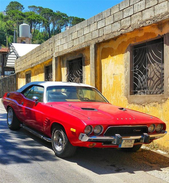 One of my favorite 🚗..  musclecar  lebanon  nature  naturelovers ... (Bmariam, Mont-Liban, Lebanon)