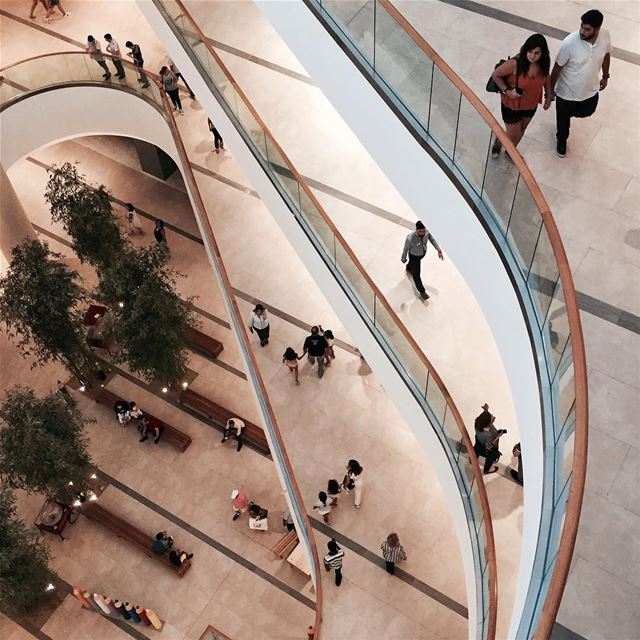 Void power 🌀  Beirut architecture topview iamatraveler archilovers...... (Abc, Verdun)