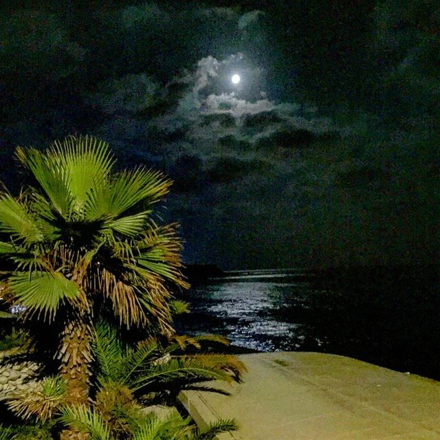 Because there is nothing more beautiful than the moon!  beachlife  moon ... (Tonic Beach)