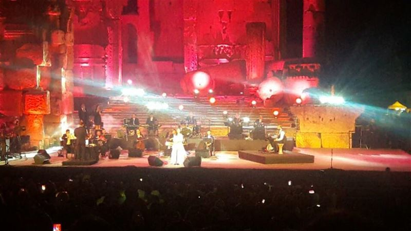 The Diva Samira Said in Baalbeck 🎵🎵🎵  Baalbeck  ... (Baalbeck International Festival)