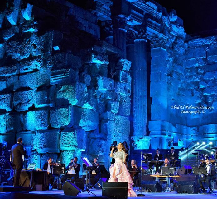 Samira Said in Baalbeck International Festival. Baalbeck ...