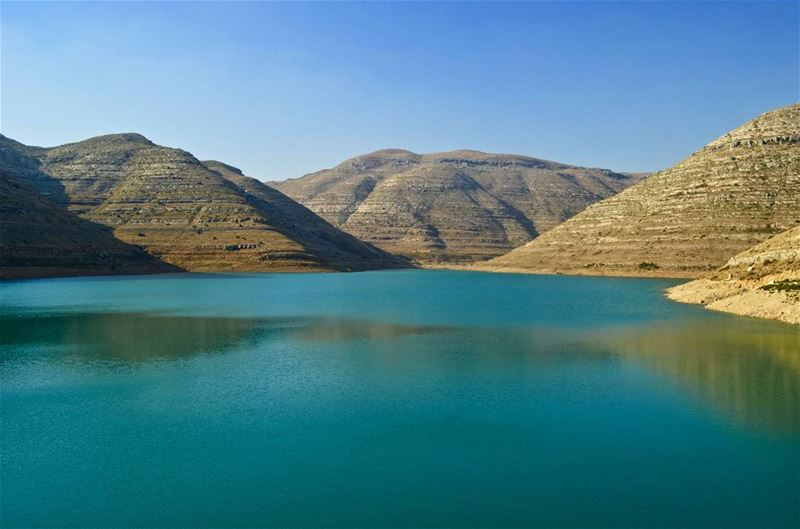 Honour the stillness 🏞....... lebanon  summer  water  blue  hike ...