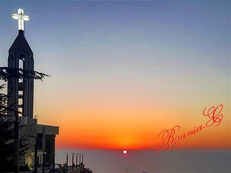 sunset  bessedplace  amazingview  wonderfulsunset  annaya  saintcharbel🙏 (مار شربل - عنايا)