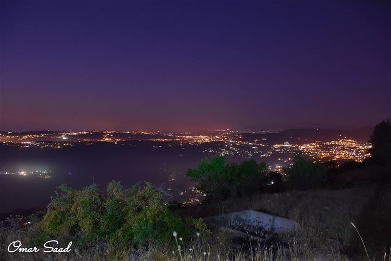A night view of Falougha from Sawfar  nightshot  nightlandscape  falougha ... (Sawfar, Mont-Liban, Lebanon)