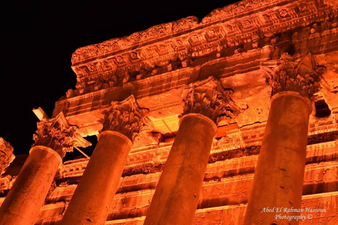 Go visit the ancient world, in  Baalbeck  Bacchus  BacchusTemple ... (Baalbek , Roman Temple , Lebanon)