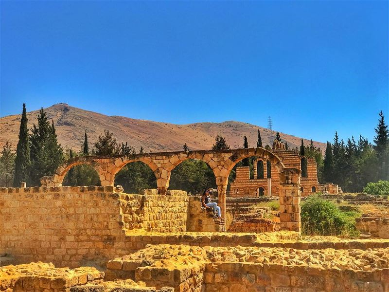 Every piece of my beautiful country looks like a postcard ❤️  touring ... (`Anjar, Béqaa, Lebanon)