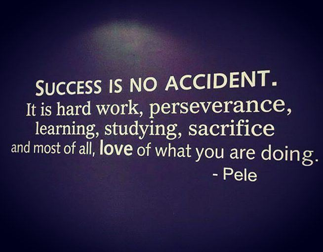 Success is loving what you are doing. pele  quote  success  motivation ...