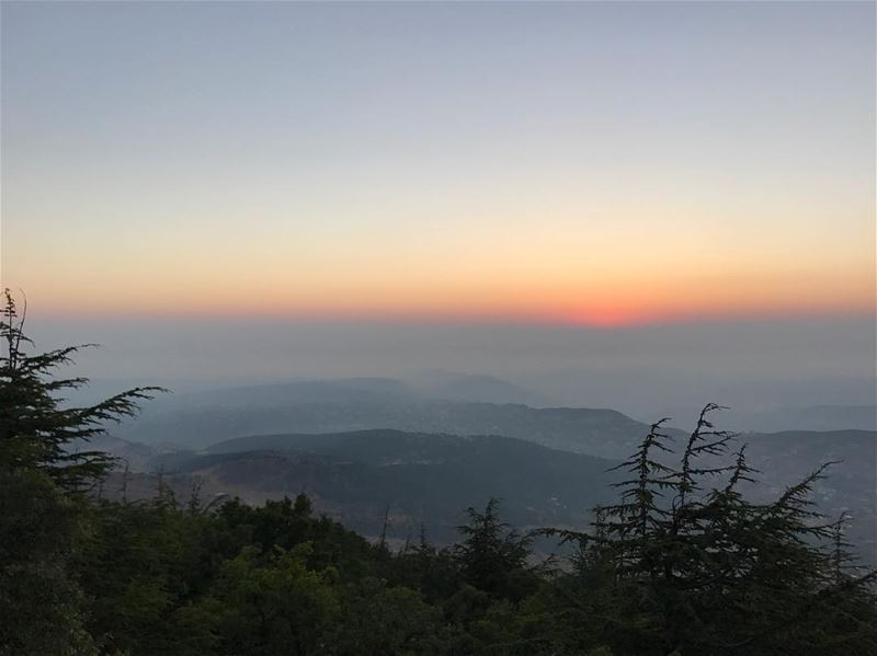 Lebanese sunsets! One of the most beautiful in the world............ (Shouf Biosphere Reserve)