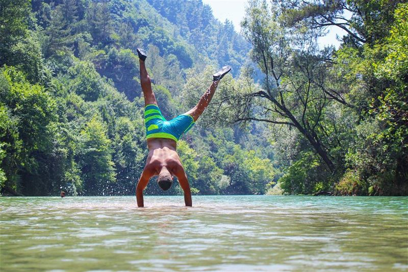 tb  chouwen  lake  upsidedown  me  river  summer  fun  mountlebanon  ... (Chouwen)