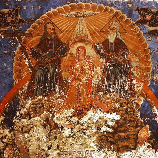 The Fresco of the Assumption of Mary in The Lady of Qannubine Maronite... (Qannoubine Valley)