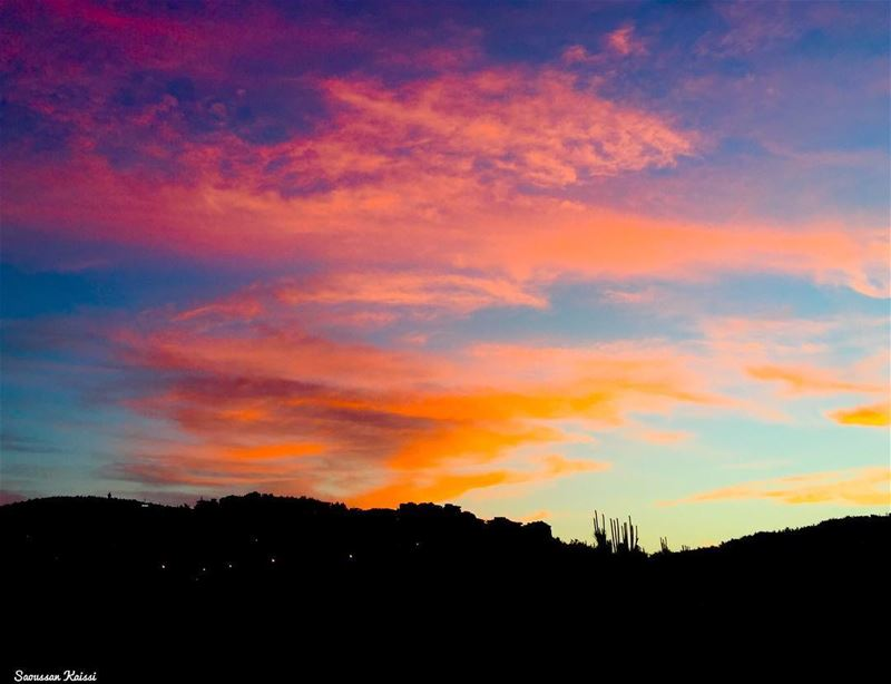 view from my balcony  sunrise  clouds  colors ...