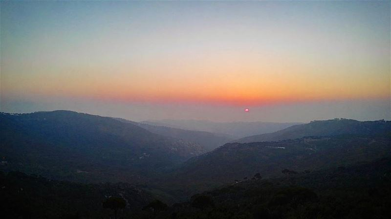 summer  summertime  sun  sunset  amazing  view  mountains  sky  Lebanon ... (Qarnayel)