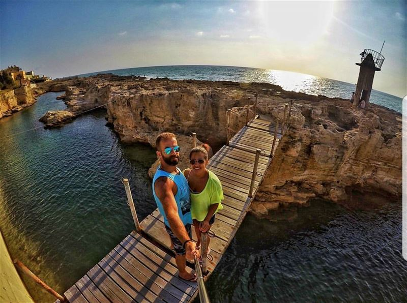 batroun  old  lighthouse  bridge  rocks  batrounbeach  batrouncoast  sea ... (Phoenicien Wall)